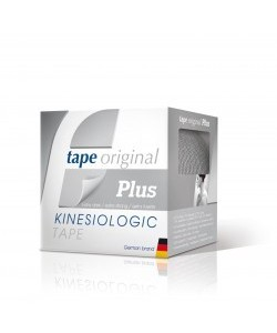 TAPE ORIGINAL KINESIOLOGIC PLUS PLATEADO 5ms.x5cms.