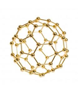 Fullereno fabricado en metal dorado
