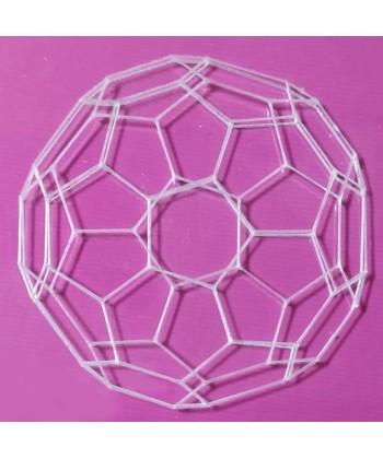 Fullereno grabado en metacrilato transparente