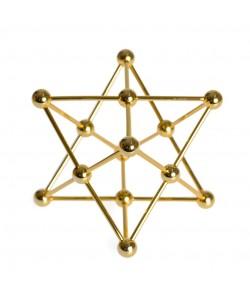 Merkaba. Fabricado en latón dorado
